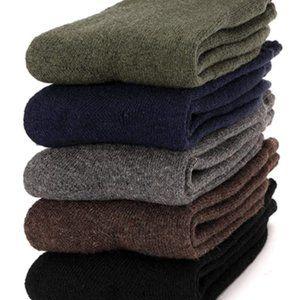 Pack of 4 Wool Socks Thick Thermal Heavy Black